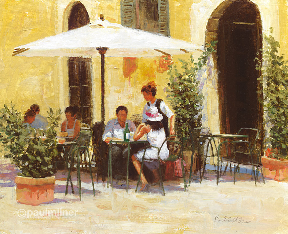 Roman lunch,From an original painting by Paul Milner