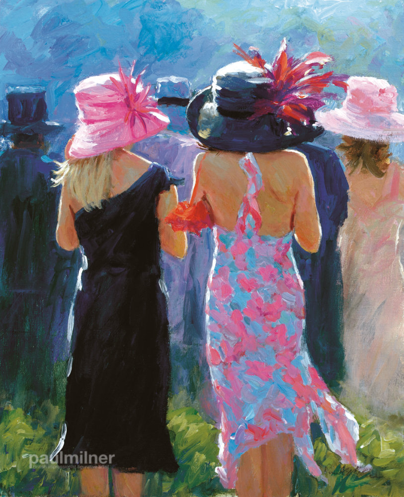 At the Races, From an original painting by Paul Milner