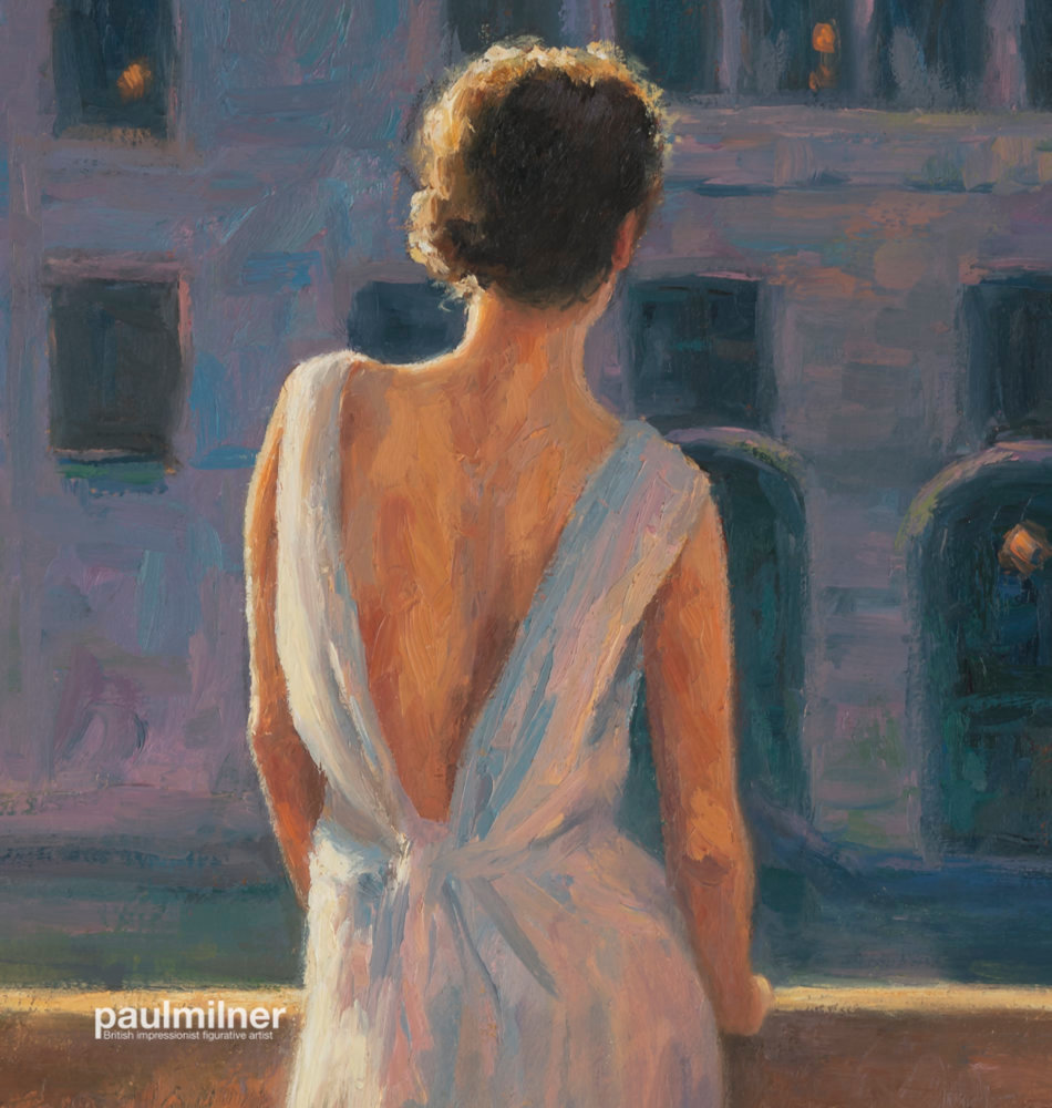 venetian evening, detail, From an original painting by Paul Milner