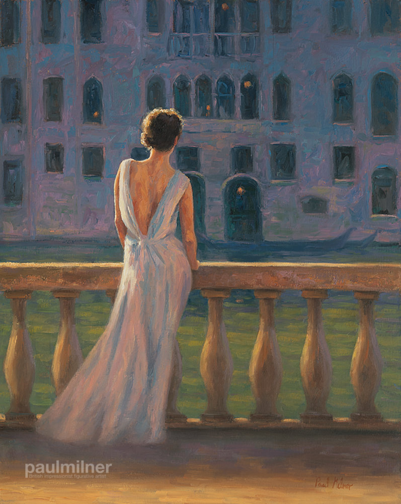 venetian evening, From an original painting by Paul Milner