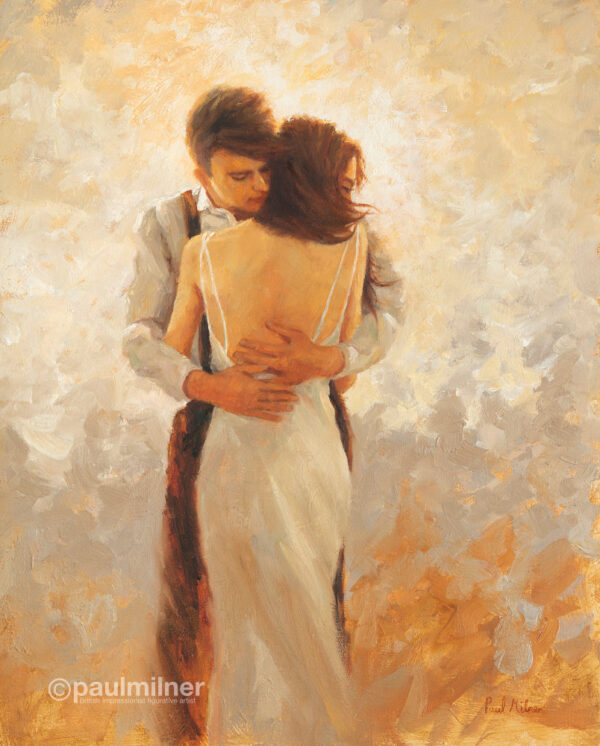 warm embrace, an original painting by Paul Milner